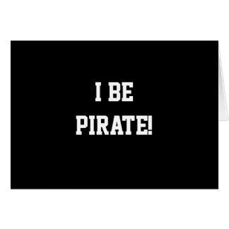 ¡I sea pirata! Blanco y negro. Texto intrépido Tarjeta De Felicitación