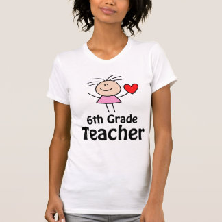 I sexto profesor del grado del corazón camiseta