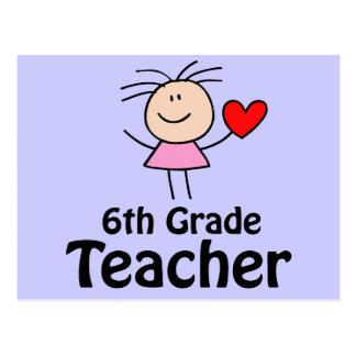 I sexto profesor del grado del corazón postal