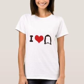 I silueta del corazón camiseta