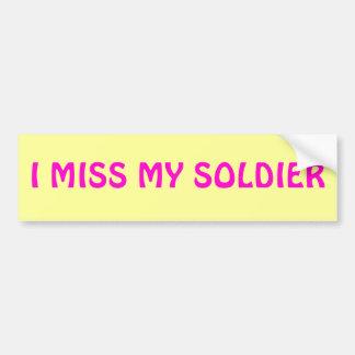 I SRTA. MY SOLDIER PEGATINA PARA COCHE