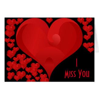 I Srta. You, corazones dulces del amor de la Tarjeta De Felicitación