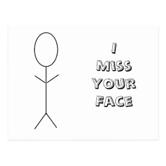 I Srta. Your Face Postcard Postal