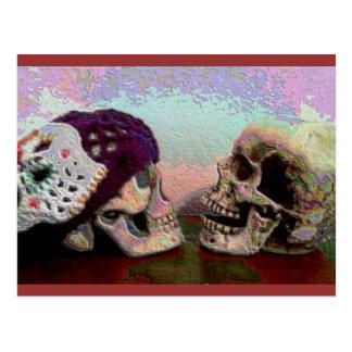 I Srta. Your Face Skull Postcard Postal