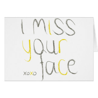 I Srta. Your Face Tarjeta De Felicitación
