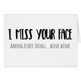 I Srta. Your Face - tarjeta de felicitación