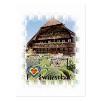 I Switzerland love tarjeta postal