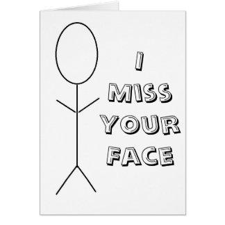I tarjeta de cara de Srta. Your