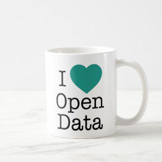 I taza abierta de los datos del corazón