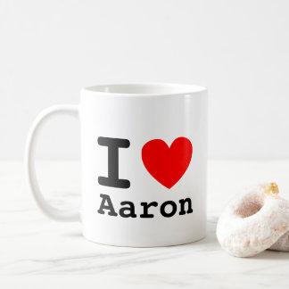 I taza de Aaron del corazón