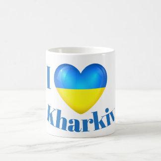 I taza de la bandera de Járkov Ucrania del amor