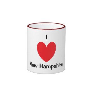 I taza de New Hampshire del corazón