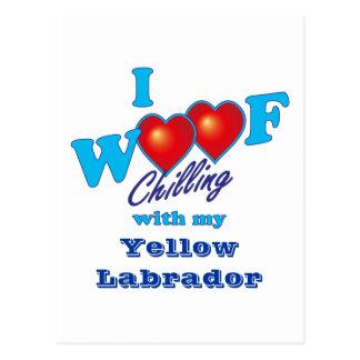 I tejido Labrador amarillo Postal