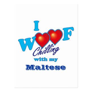 I tejido maltés postal