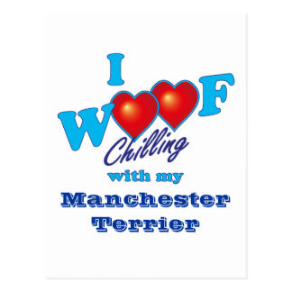 I tejido Manchester Terrier Postal