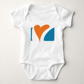 I tiburones del corazón body para bebé