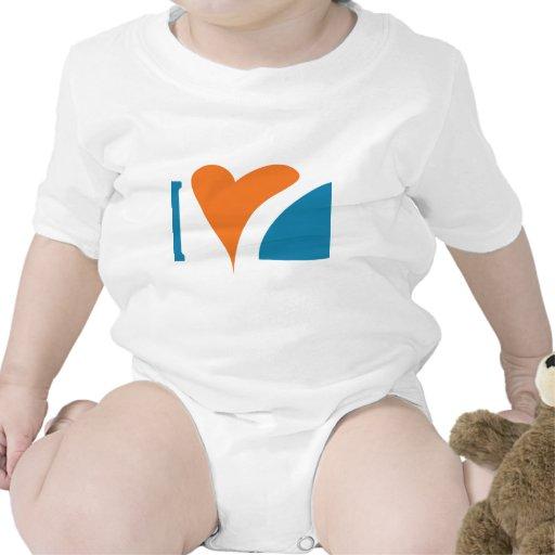 I tiburones del corazón traje de bebé