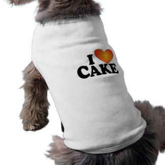 I torta (del corazón) - camiseta del perro camisas de mascota