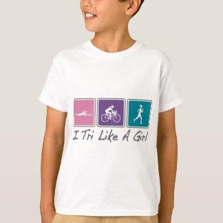i tri como un chica (Triathlete) Camiseta