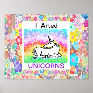 I unicornios de Arted - poster del arte