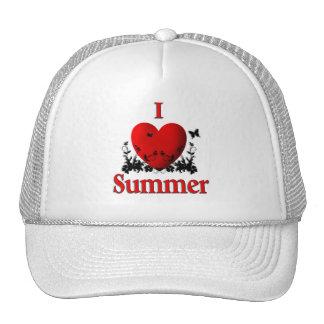 I verano del corazón gorros bordados