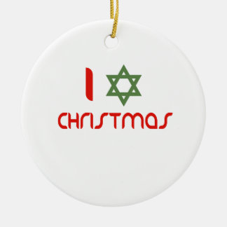 I verde del navidad de Jánuca Ornamentos De Navidad