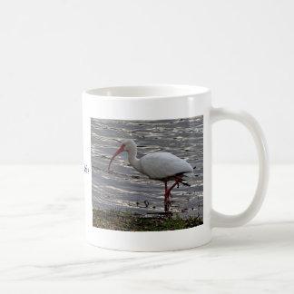 Ibis blanco taza clásica
