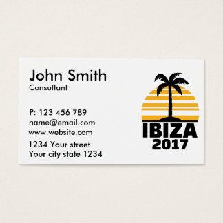 Ibiza 2017 tarjeta de visita