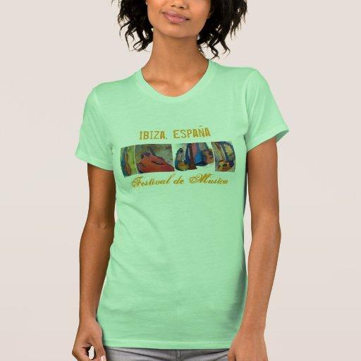 Ibiza, festival de música de España - trasero Camiseta