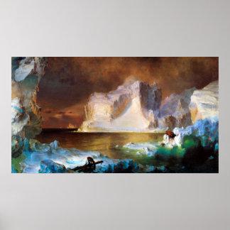 Iceberg por la iglesia de Federico Edwin Póster