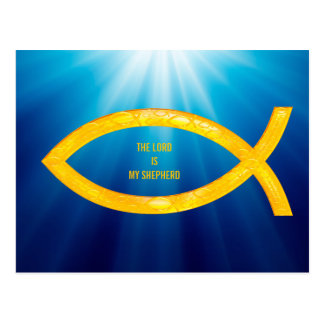 Ichthus - símbolo cristiano de los pescados - postal
