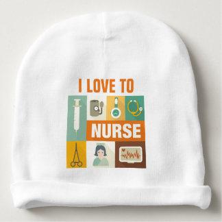 Icónico profesional de la enfermera diseñado gorrito para bebe