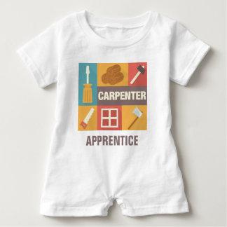Icónico profesional del carpintero diseñado body para bebé