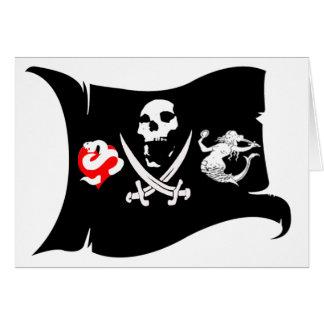 Icono #13 del pirata tarjeta de felicitación