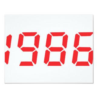 icono 1986 del rojo invitación 10,8 x 13,9 cm