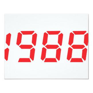 icono 1988 del rojo invitación 10,8 x 13,9 cm