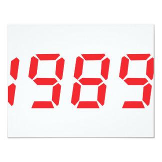 icono 1989 del rojo invitación 10,8 x 13,9 cm
