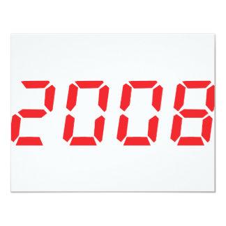 icono 2008 del rojo invitación 10,8 x 13,9 cm