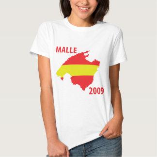 icono 2009 del contorno del malle camiseta