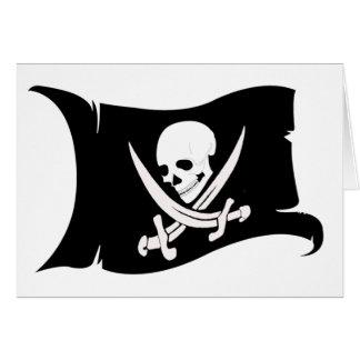 Icono #7 del Bandera-Pirata que agita Tarjeta De Felicitación