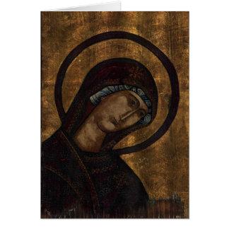 Icono antiguo de Maria Tarjeta De Felicitación