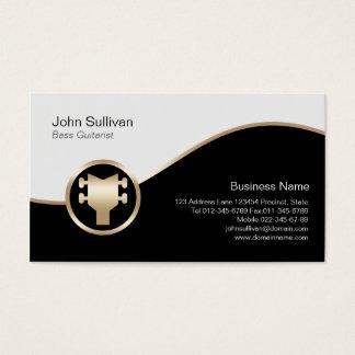 Icono bajo de la guitarra baja del oro de la tarjeta de negocios