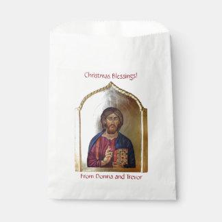 Icono bizantino del estilo de Cristo Pantocrator Bolsa De Papel