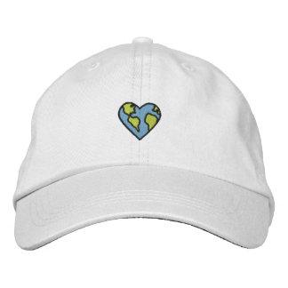 Icono bordado corazón de la tierra de la diversión gorras de beisbol bordadas