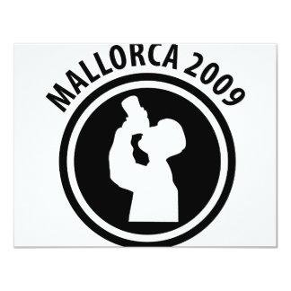 icono borracho 2009 de Mallorca Invitación 10,8 X 13,9 Cm