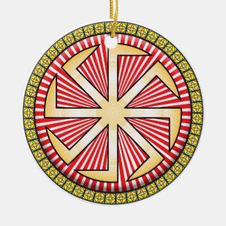 Icono de Kolovrat Adorno Redondo De Cerámica