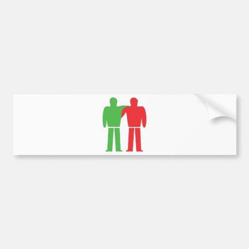 icono de la amistad etiqueta de parachoque