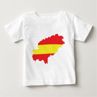 Icono de la bandera del contorno de Ibiza Camiseta De Bebé