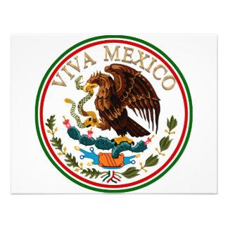 Icono de la bandera mexicana de Viva México con el