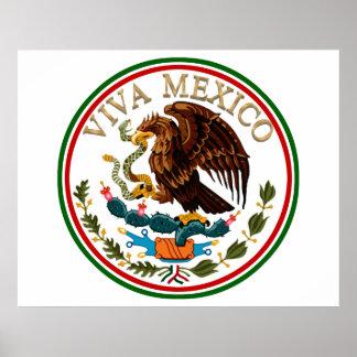 Icono de la bandera mexicana de Viva México con el Posters